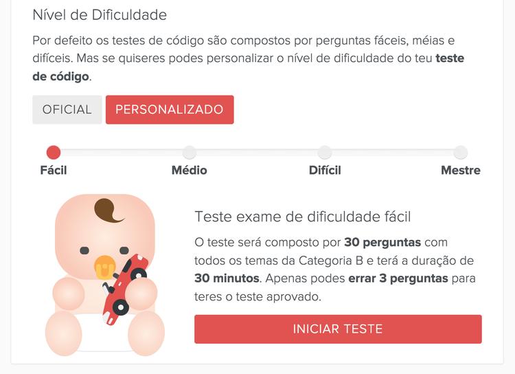 Definir dificuldade nos testes de código