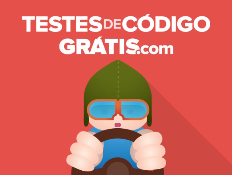 O novo site Testes de Código Grátis